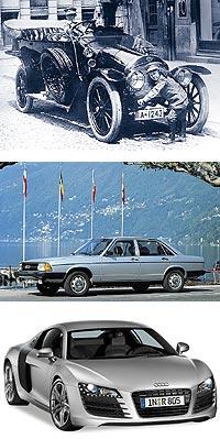 Desde el primer coche que estrenó la marca, el Type A, pasando por el Audi 100, una berlina que se mantuvo en el mercado a la venta durante 26 años, hasta el R8, su versión más evolucionada que llega a los 525 caballos.