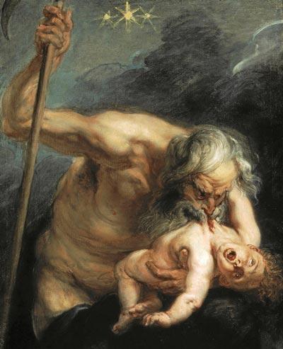 CRUEL PADRE. 'Saturno devorando a su hijo', de Pedro Pablo Rubens, conservado en el Museo del Prado.