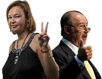 """Leire Pajín y Rodrigo Rato, dos de los miembros de """"La Casta"""" con ingresos millonarios."""