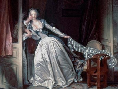 Como Casanova en su obra, pero sin su crudeza, Jean Honoré Fragonard retrata la atracción física que desafía a la moral (las mujeres tras la puerta). 'El beso robado' (1780).