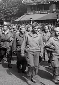 Soldados estadounidenses en los campos de concentración nazis