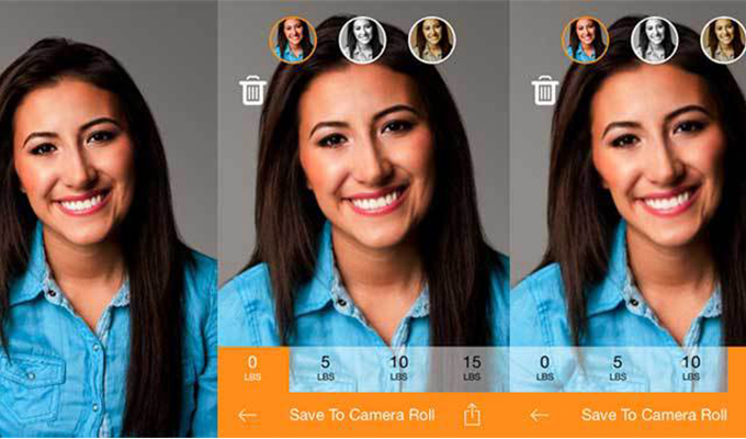 Skinee Pix, la app para aparecer más delgada en tus selfies