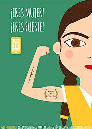 Cartel ganador  VIII Edición Concurso de artes Visuales contra la Violencia de Género