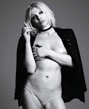 Courtney Love vista por Hedi Slimane.