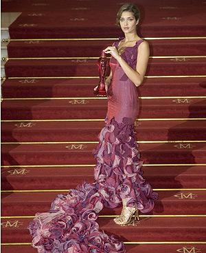 La modelo Ana Beatriz Barros en la presentación del perfume