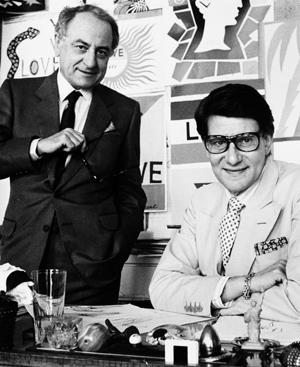Yves Saint Laurent, con Pierre Bergé en 1986. FOTO: Archivos de la Fundación Pierre Bergé.
