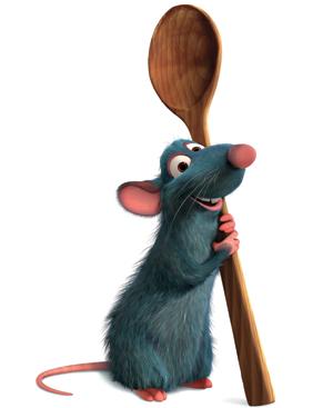 Fotograma de la película 'Ratatouille', protagonizada por un ratón chef.