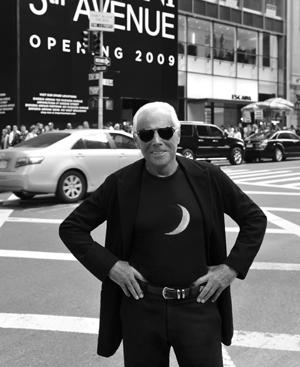 Girogio Armani fotografiado en la ciudad de sus sueños: Nueva York.