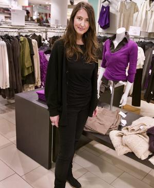 Ann Sophie Johansson posa en una tienda de H&M.