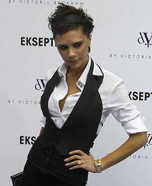 Victoria Beckham en su última visita a España para presentar su colección de ropa. Foto: REUTERS