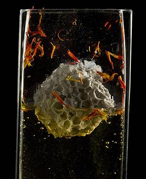 'Caldo frío y piedra pómez', una de las propuestas de Juan Mari Arzak.