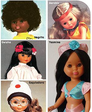 Algunas de las diez muñecas Nancy más emblemáticas.