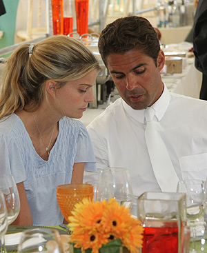 Athina Onassis y su marido, en Portugal.