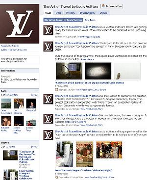 Perfil de Yves Saint Laurent en Facebook.