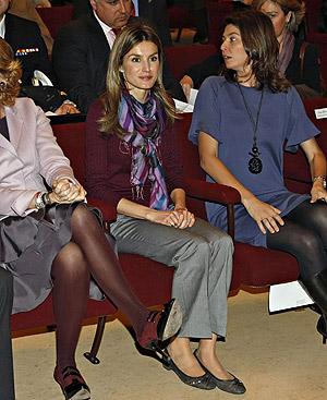 La Princesa de Asturias, con bailarinas planas en el Ramiro de Maeztu. FOTO: Gtresonline