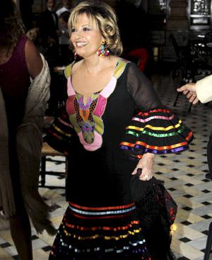María Teresa Campos en la feria de Sevilla.  (Getresonline).