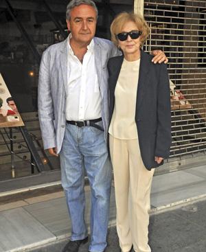 La actriz Marisa Paredes y el director de la película Vicente Molina Foix. FOTO: Gtresonline