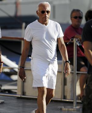 Giorgio Armani en Saint Tropez. Foto: Gtresonline.