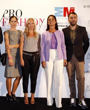 Algunos de los miembros del jurado: Carolina Herrera, María Moro, Paloma Adrados y Juanjo Oliva. (Foto: Las Rozas Village)