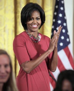 Michelle Obama, en una de sus últimas apariciones públicas. FOTO: AP