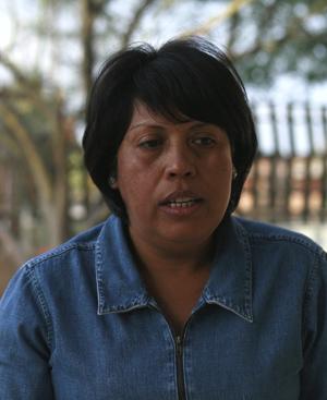 Olga Herrera, comisaria del poblado Villa Luz. (Foto: EFE)