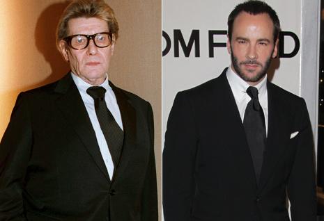 A la izquierda, el diseñador Yves Saint Laurent, fallecido en 2008. A la derecha, Tom Ford, que se hizo cargo de la dirección artística de YSL hasta que fundó su propia firma en 2004. (Foto: Gtresonline)