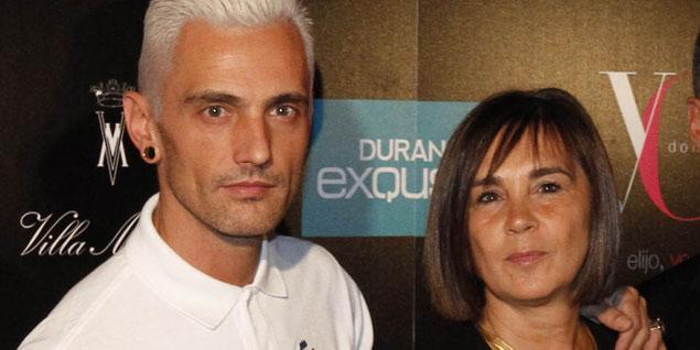 Charo Izquierdo, directora de YO DONA, y el diseñador David Delfín.