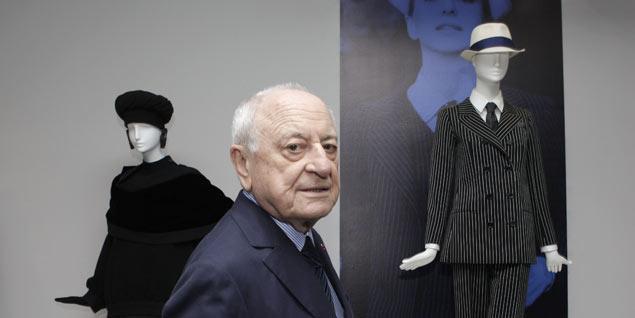 Pierre Bergé, durante su visita a Madrid para inaugurar la exposición de Yves Saint Laurent. FOTO: Antonio Heredia
