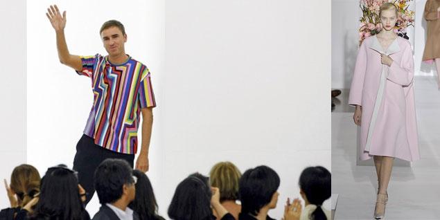 Foto: El diseñador, en su último desfile para Jil Sander (al que pertenece también la imagen de la derecha) (Fotos: Archivo)