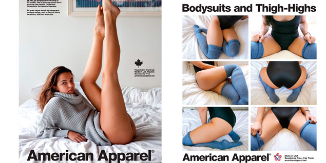 Dos de las campañas de American Apparel censuradas por ASA.
