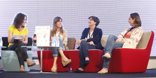 (de izquierda a derecha) Isabel García-Zarza (Mi vida con hijos), María Cañal (Escarabajos, bichos y mariposas), Ana Ribera Molinos (Cosas que me pasan) y Lucía Sández (Baballa). VER GALERÍA DE IMÁGENES