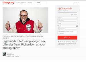 La denuncia de Thierry Richardson en Change.org.