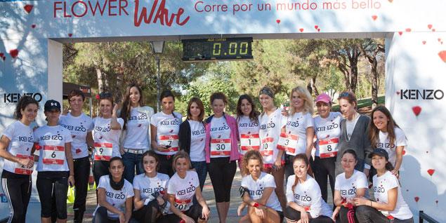Algunas de las 'runners' antes de empezar la carrera.