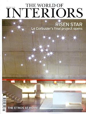 El número de la revista 'The World of Interiors' mostrando la obra de Le Corbusier.